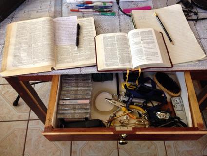 Pastor Pedro's Study