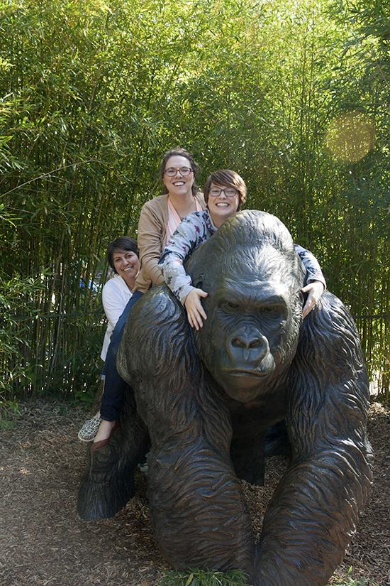 """My Three Girls and the Gorilla"" - Copyright 2013 Todd Littleton"