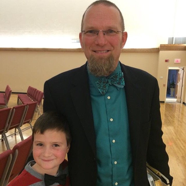 Me and Josh rocking the bow ties ...